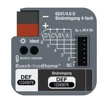 Binaire ingang 4-voudig, voor inbouwdoosmontage voor Busch-free@home®
