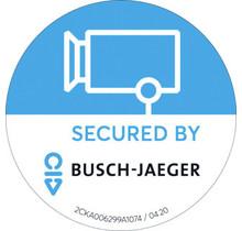 Busch Secure@Home sticker buiten