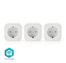 Wi-Fi Smart-Stekker   Schuko Type-F   10 A   3-Pack