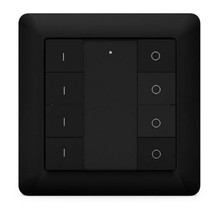 Heat it Z-Push Button 8 Wandschakelaar Z-Wave Plus zwart