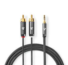 Stereo-Audiokabel 3,5 mm male- 2x RCA male 1.00 m