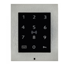2N, Access Unit 2.0, All-in-One kaartlezer Touch Keypad & RFID 125 kHz, 13,56MHz, NFC en controller