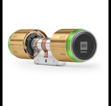 DOM Tapkey Pro MESSING knopcilinder - dubbelzijdige toegangscontrole met NFC/BLE - SKG***