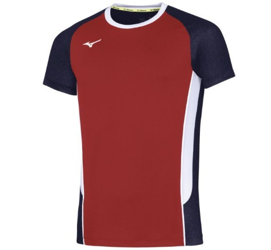Mizuno volleybalshirt rood heren