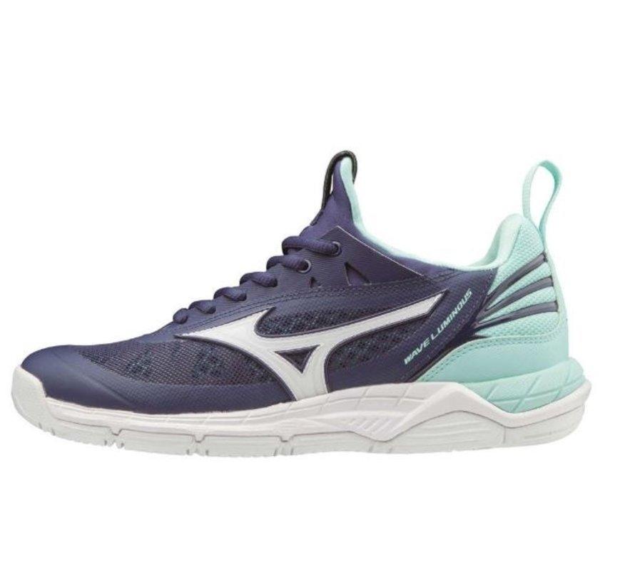 Mizuno Wave Luminous donkerblauw indoor schoenen dames