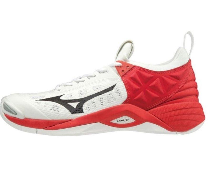 Mizuno Wave Momentum wit rood volleybalschoenen unisex