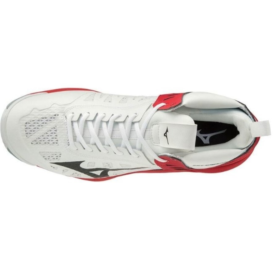 Mizuno Wave Momentum Mid wit rood volleybalschoenen unisex