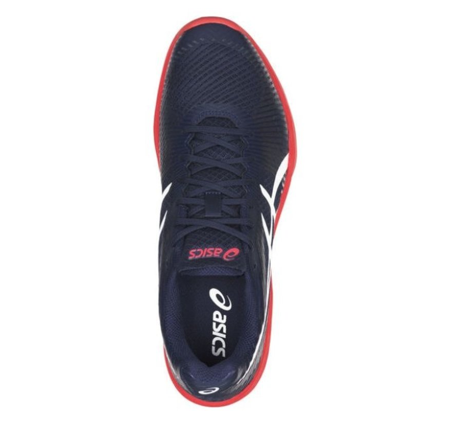 ASICS Gel Volley Elite FF blauw rood volleybalschoenen heren