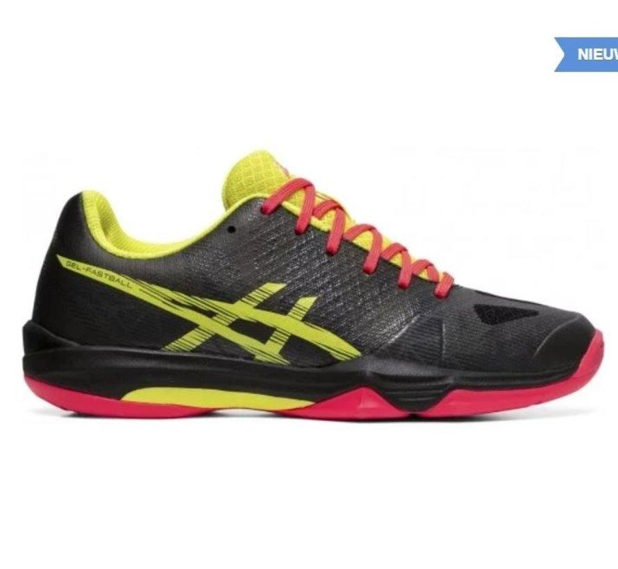 ASICS Gel-Fastball 3 zwart geel handbalschoenen dames