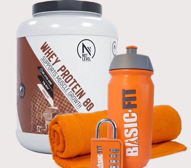 Toalla+ Candado + Botella + NXT Level Whey Protein 80 - 2kg