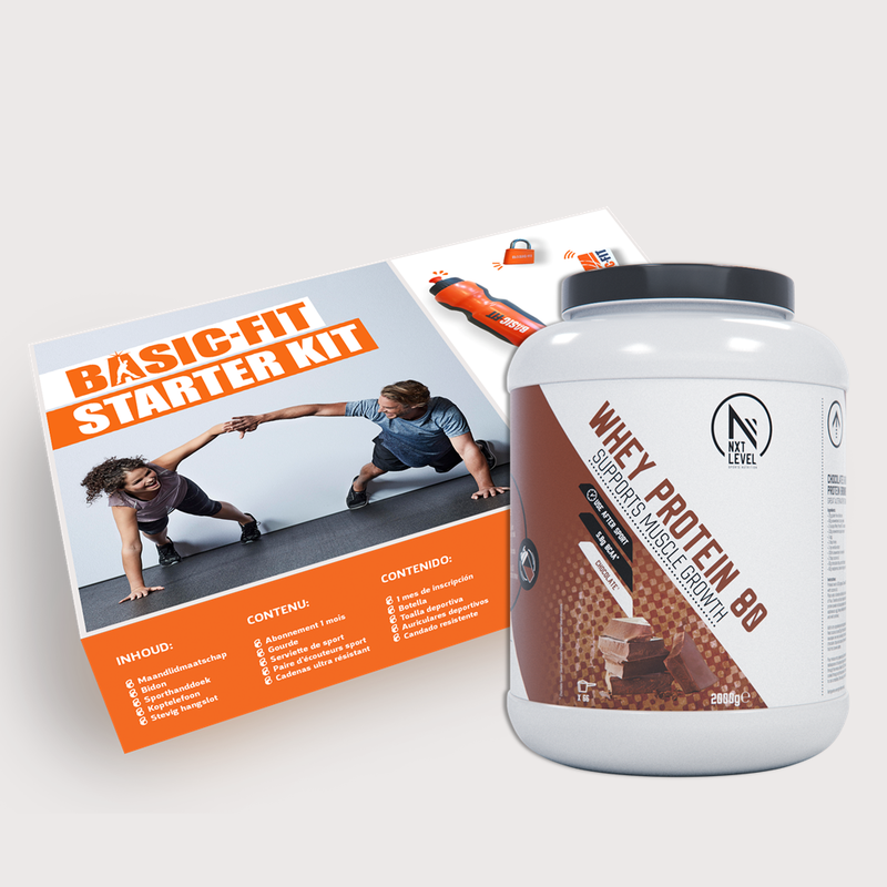 Starter kit + Limited edition Sporttas + NXT Level Whey Protein 80 - Copy