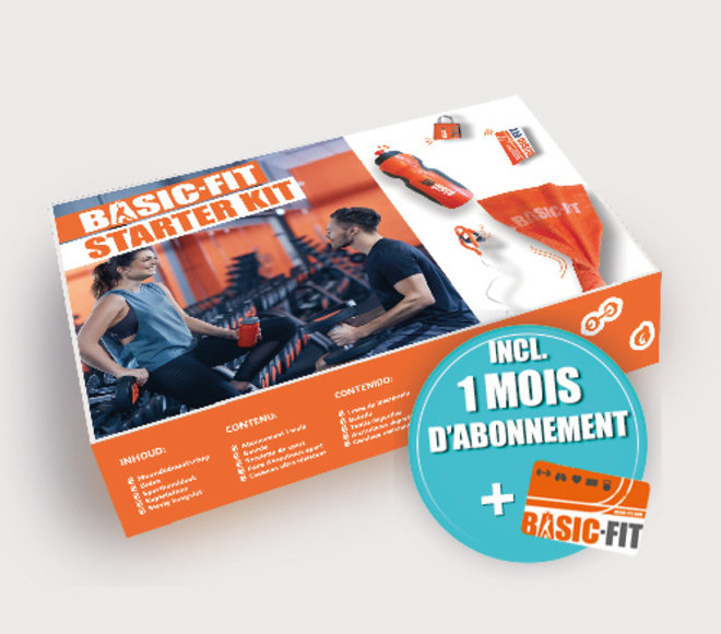 Basic-Fit Starter Kit + 1 mois d'abonnement FR