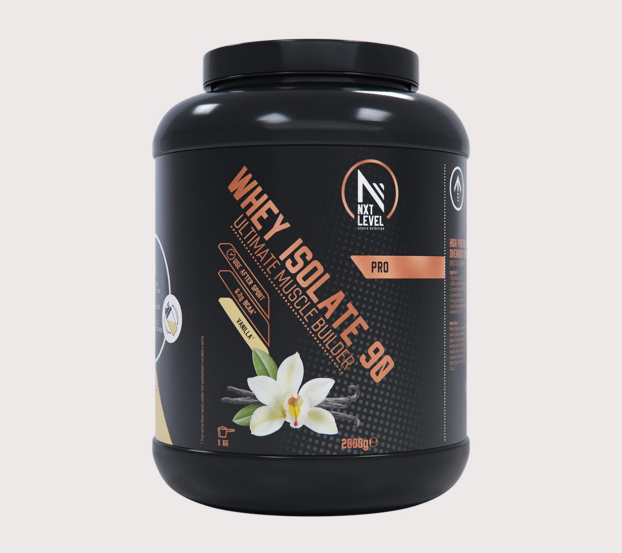 Whey Isolate 90 (2kg) - Choisissez parmi 4 saveurs