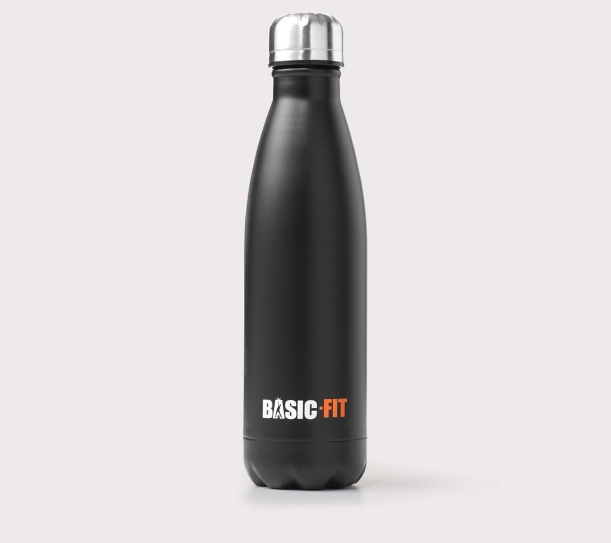 Botella de acero inoxidable negro
