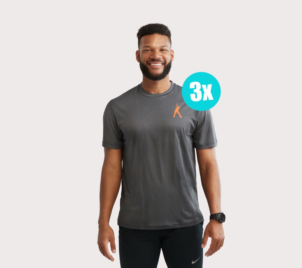 T-Shirt de Sport Hommes (3 pcs)