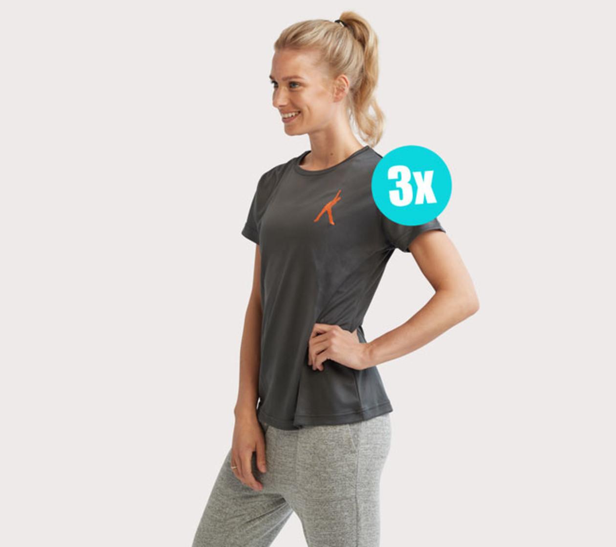 Dames Sportshirt (3 stuks)