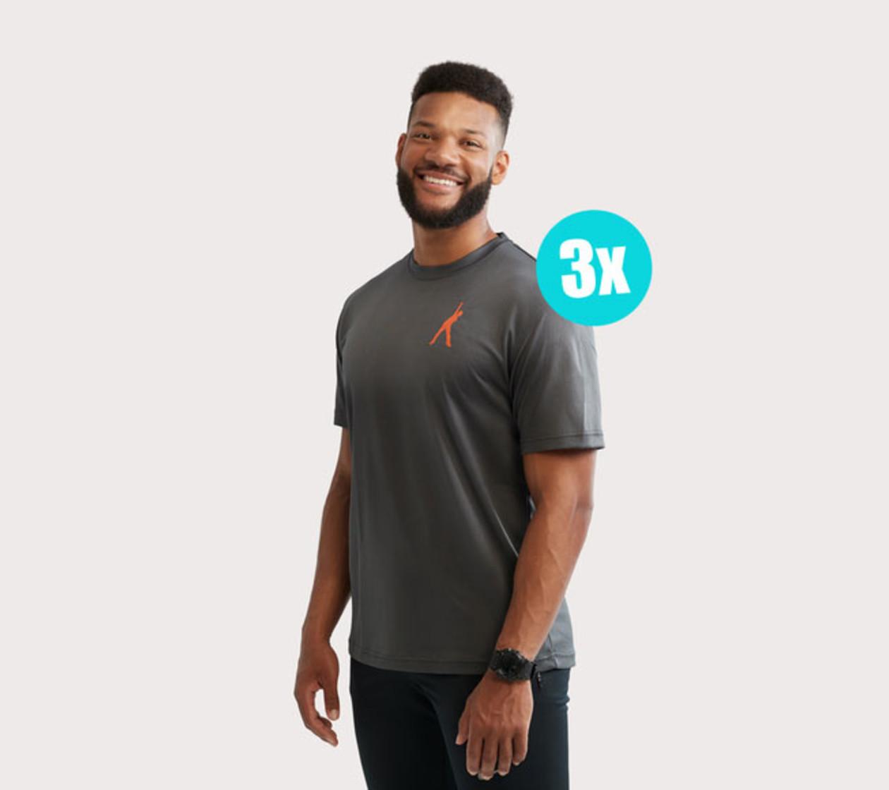 Heren Sportshirt (3 stuks)