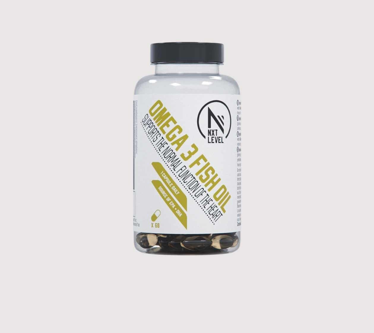 OMEGA 3 FISH OIL - 60 capsules - 1 per dag