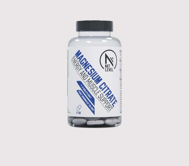 Citrate de Magnésium - 60 comprimés - 1-2 par jour