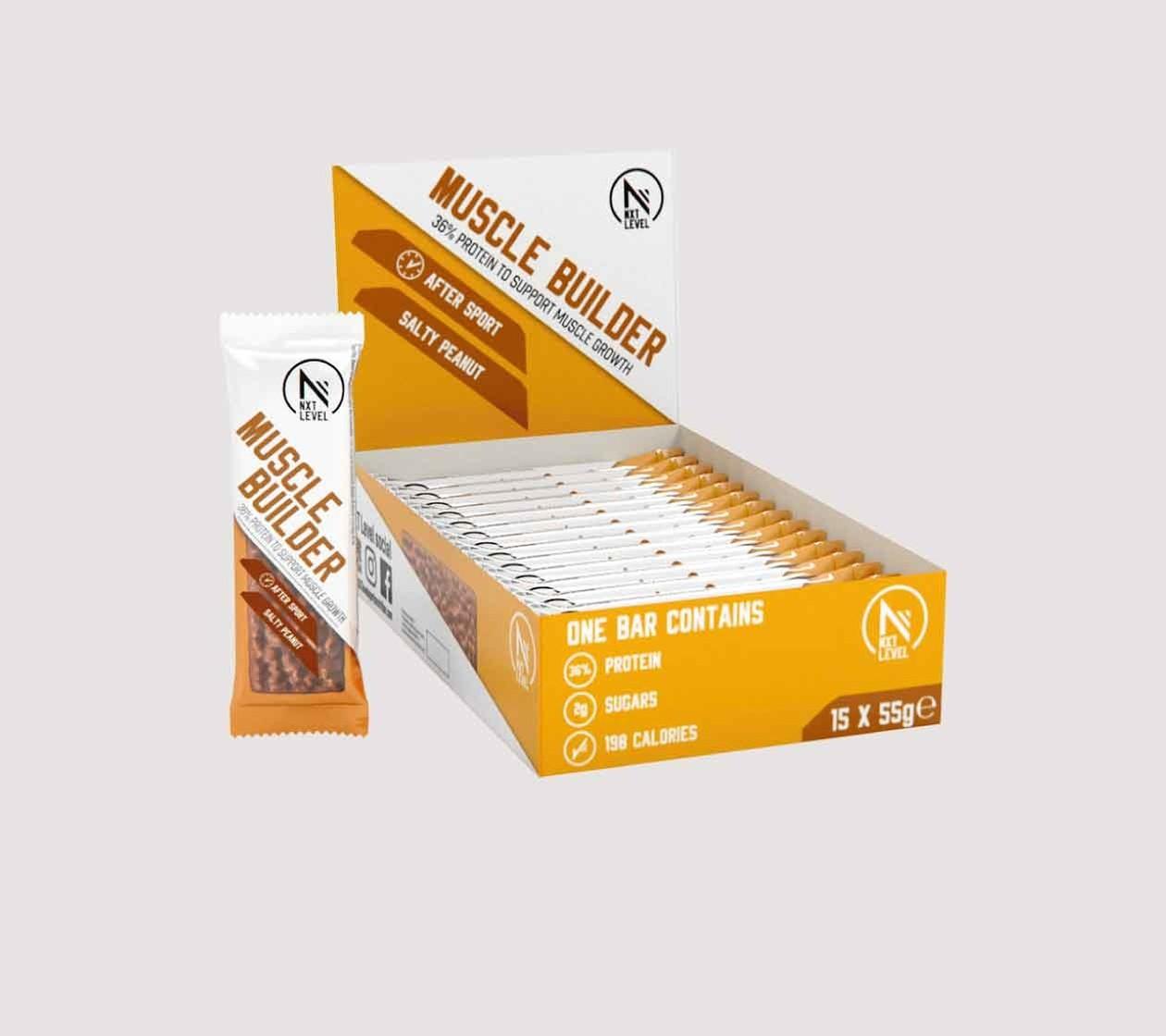 Barra de Proteina Muscle Builder (15 piezas) - Elija entre 3 sabores