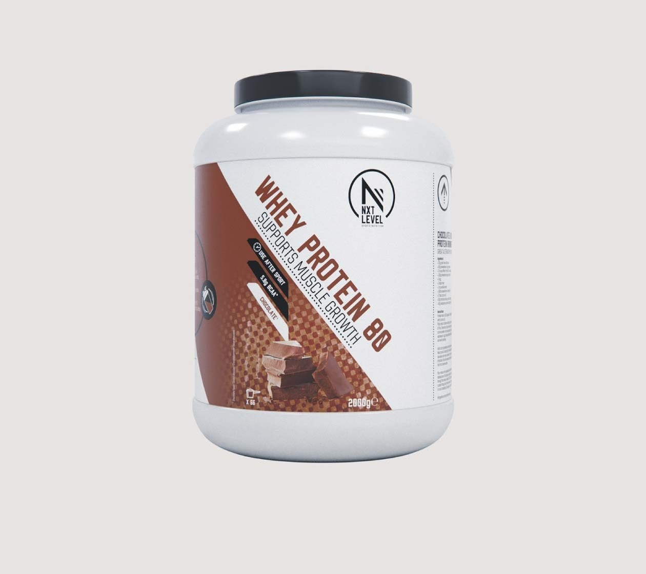 Whey Protein 80 (2kg) - Kies uit 4 smaken