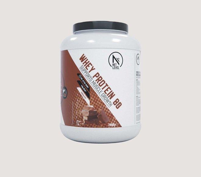 Whey Protein 80 (2kg) - Choisissez parmi 4 saveurs