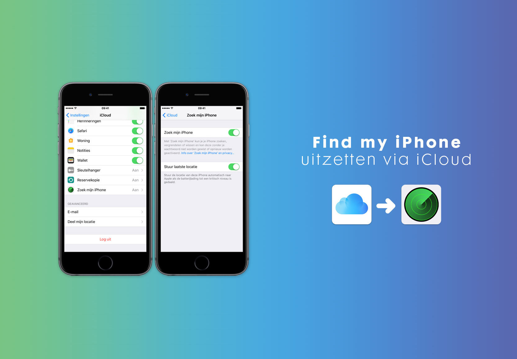 Hoe verwijder ik iCloud en Find my iPhone/iPad?