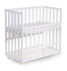Childhome Childhome co-sleeper + wielen beuk wit