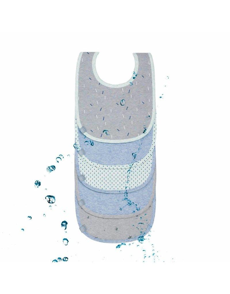 Lassig Lassig babyslabbetjes blue bash 5st