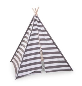 Childhome Childwood tipi tent streepjes grijs wit