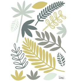 Lilipinso Lilipinso wall stickers leaves green/blue