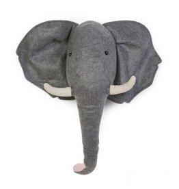 Childhome Childhome vilten muur decoratie olifant