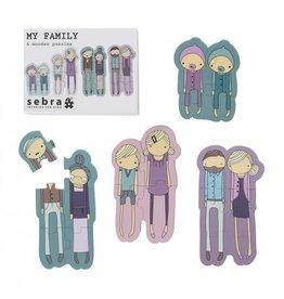 Sebra Sebra puzzel 4 stuks my family