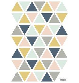 Lilipinso Lilipinso wall stickers triangles girl
