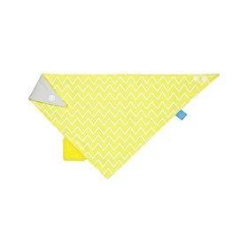 Lassig Lassig babyslabbetje met bijtstuk zigzag yellow