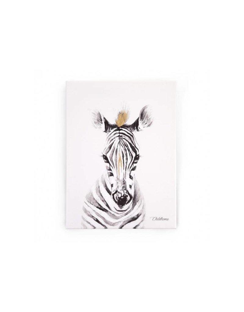 Childhome Childhome schilderij zebra