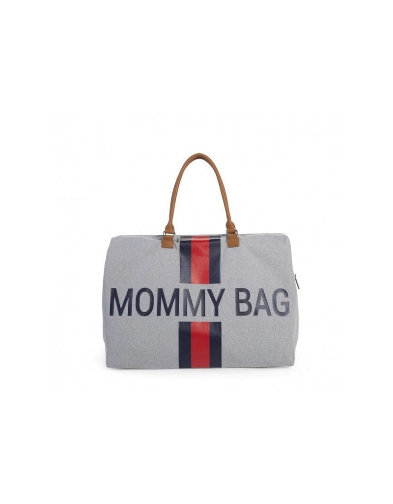 Childhome Childwheels mommy bag groot canvas grey stripes