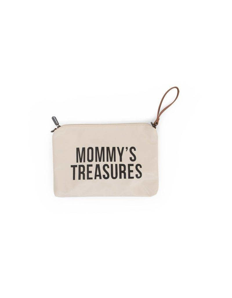 Childhome Childwheels mommy clutch off white black
