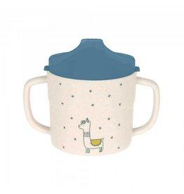 Lassig Lassig sippy cup bamboo lama blue