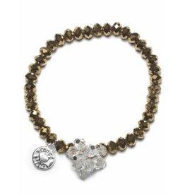 Proud Mama armband charm beads (goud)