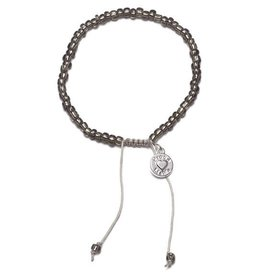 Proud Mama armband beads antraciet