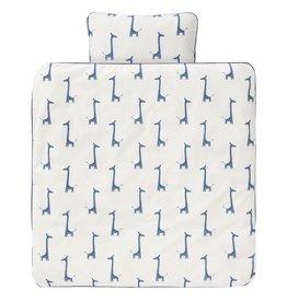 Fresk Fresk dekbedovertrek giraf indigo blue