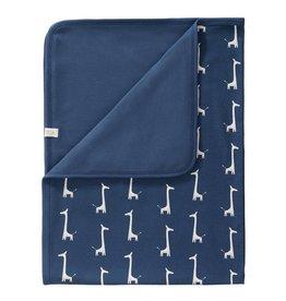 Fresk Fresk dekentje giraf indigo blue