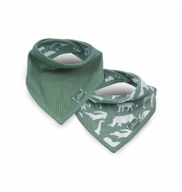 Jollein Jollein slab bandana Safari forest green (2-pack)