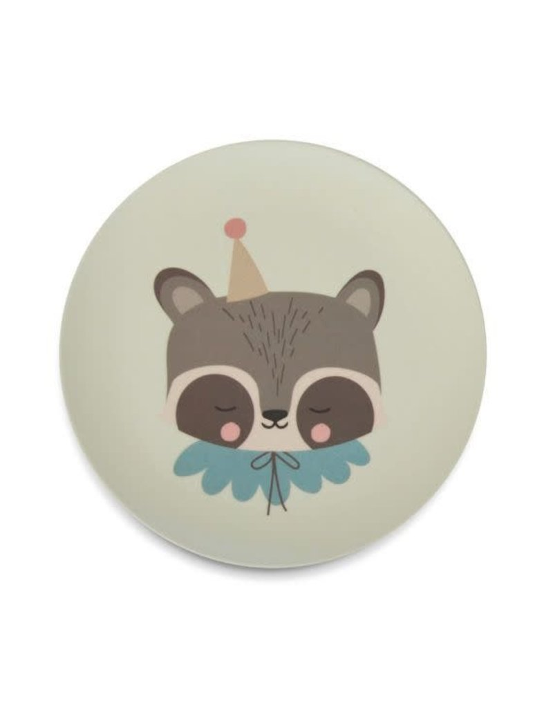 Eef Lillemor Eef Lillemor Bamboo Eco Dinner Set circus raccoon