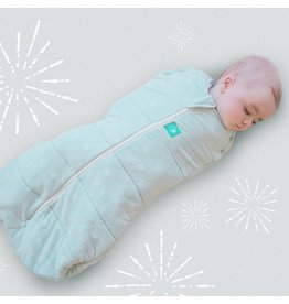 Ergopouch Ergopouch swaddle sleepbag mint stars 3-12m 2.5 tog