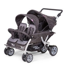 Childhome Childhome quadruple buggy + autobrake 4 kinderen antraciet