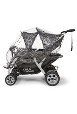 Childhome Childwheels quadruple buggy + autobrake 4 kinderen antraciet