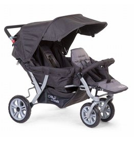 Childhome Childwheels triplet buggy 3 kinderen antraciet