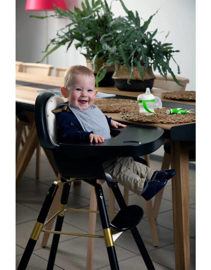 Childhome Childwood evolu 2 stoel zwart/goud 2 in 1 + beugel